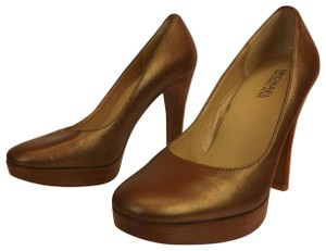 Michael Kors Leather Bronze Brown Pumps