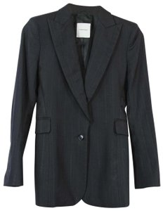 CoSTUME NATIONAL Wear To Work Career Wool Menswear Structured Black Blazer