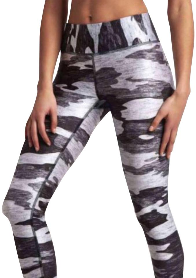 54a47b53b2b6a Terez Heathered Gray Camo Tall Band Leggings Activewear Bottoms Size ...