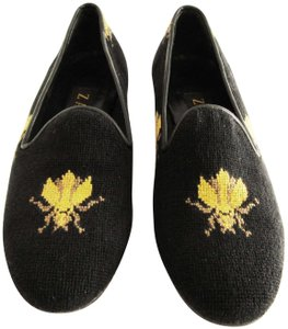 2b9e6ae190f Zalo Multi-color Bumblebee Embroidered Needlepoint Loafers Flats ...