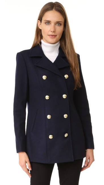 Item - Blue Atelier Le Double Breasted Peacoat Coat Size 2 (XS)