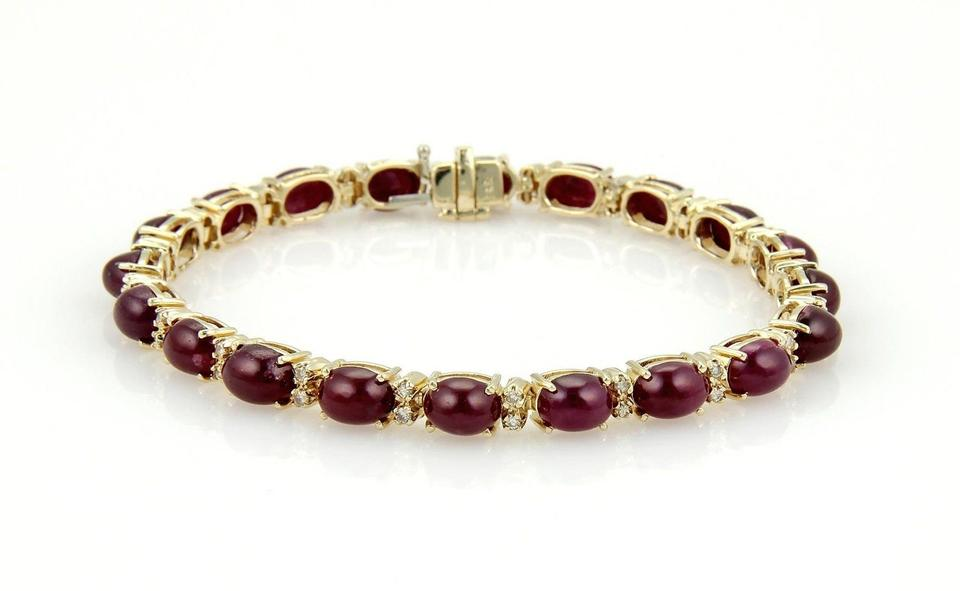 ruby red bracelets in item set round bracelet cut bangles stunning gold white rolled
