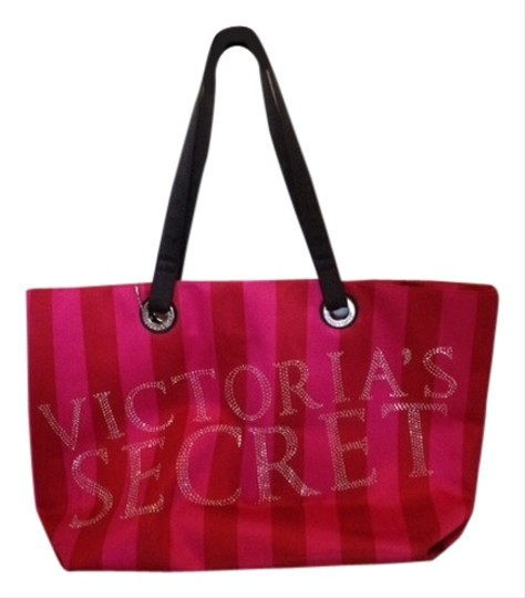 Preload https://item2.tradesy.com/images/victoria-s-secret-travel-weekender-red-and-pink-satin-like-material-tote-2242071-0-0.jpg?width=440&height=440