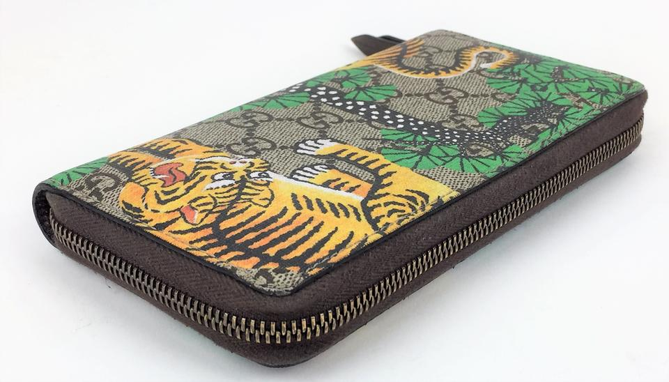 cfaa937d1 Gucci Bengal Tiger Zip Around Wallet On Tradesy
