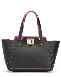 Juicy Couture Tote in Black with Fuchsia Trim