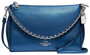 Coach Leather Pebble Leather Cross Body Bag