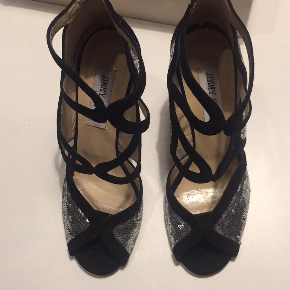 Black Shoes Jimmy Formal Silver Choo 122tune 5wRqPw
