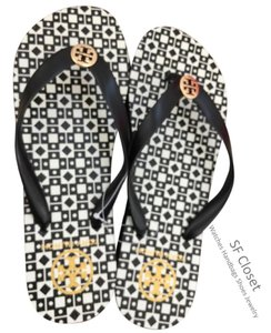 Tory Burch Black / White Sandals