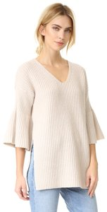 10 Crosby Derek Lam Bell Sleeves V-Neck Tunic Wool Sweater