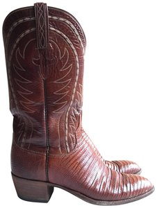 Lucchese Cowboy Western Lizard brown Boots
