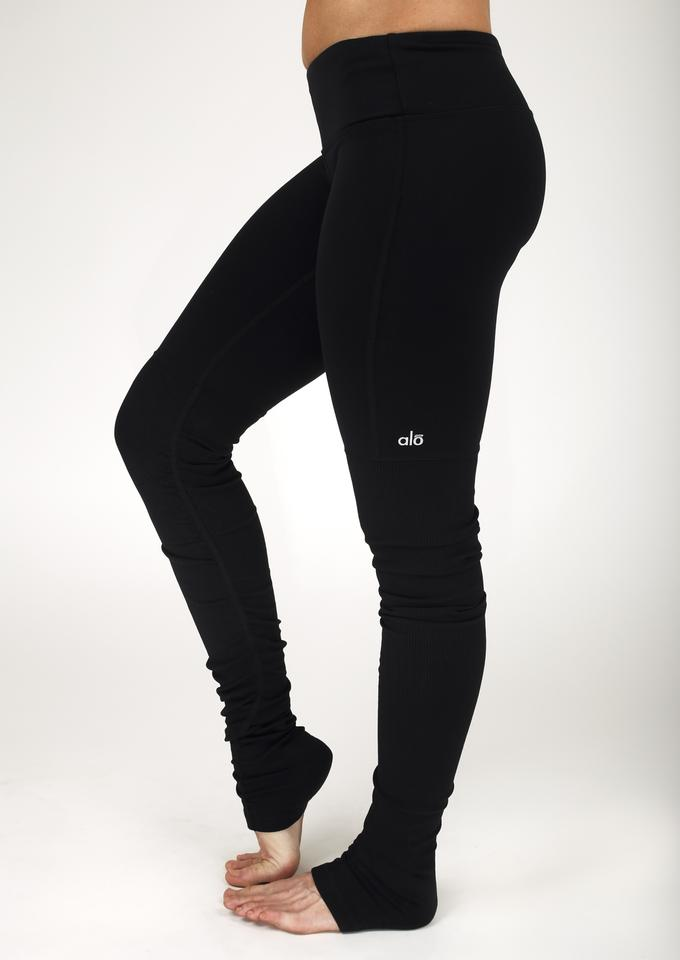 Black Goddess Leggings Alo Activewear Ribbed dwvx5zTxnW