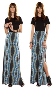Maxi Dress by Anthropologie Stretchy Maxi Print Boho Bohemian
