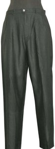 Allison Woods Vintage Slacks Silk Trouser Pants Black