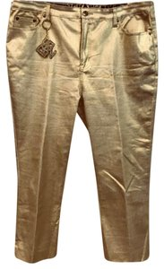DG2 by Diane Gilman Straight Pants Gold