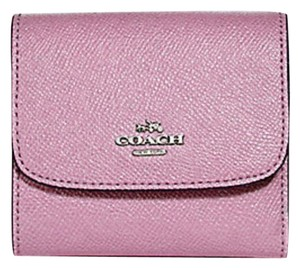 Coach coach Small Wallet in Glitter Crossgrain Leather trifold 15622 57725
