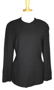 Giorgio Armani Jacket Metallic Black Blazer