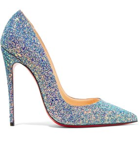 Christian Louboutin Red Sole Pointed Toe Patent Leather So Kate Blue, Rose Gold, Glitter Pumps