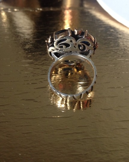 Other Blue Flower Silver Ring Size 9