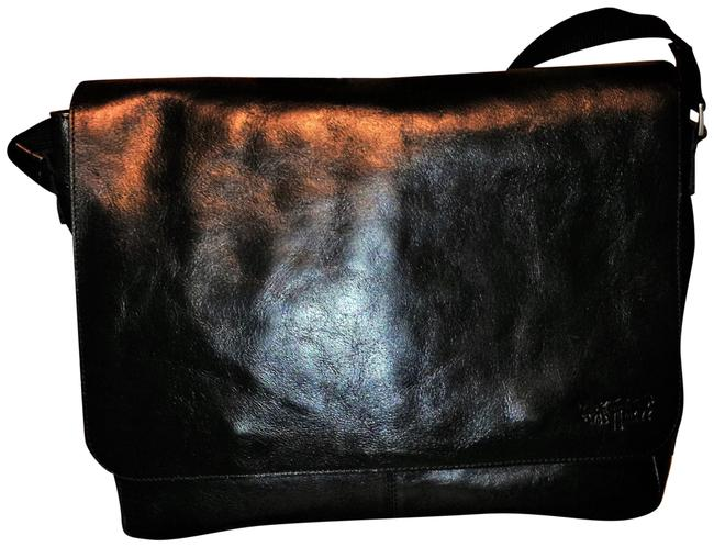 Levi's Urban Black Cowhide Leather Messenger Bag Levi's Urban Black Cowhide Leather Messenger Bag Image 1