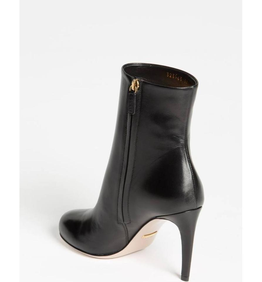 a976740317c Gucci Black Goldie Leather Mid-calf Boots Booties Size EU 39 (Approx ...