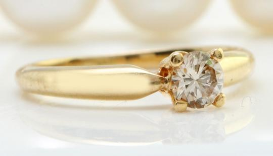 Other .29CTW Natural SI1 / J DIAMOND in 14K Yellow Gold Women Solitaire Ring Image 1