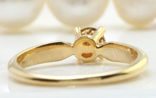 Other .29CTW Natural SI1 / J DIAMOND in 14K Yellow Gold Women Solitaire Ring Image 3