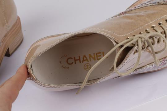 Chanel Lace Up Leather Beige Formal Image 10