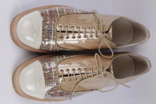 Chanel Lace Up Leather Beige Formal Image 6