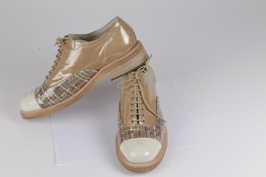 Chanel Lace Up Leather Beige Formal Image 8