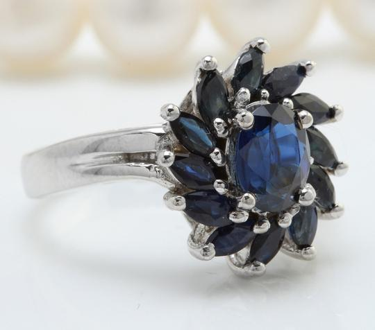 Other 2.52 CTW Natural Blue Sapphire in 14K Solid White Gold Women Ring Image 1