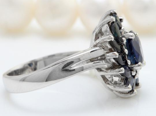 Other 2.52 CTW Natural Blue Sapphire in 14K Solid White Gold Women Ring Image 2
