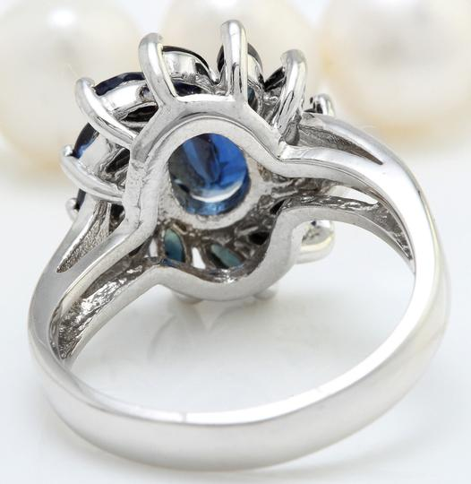 Other 2.52 CTW Natural Blue Sapphire in 14K Solid White Gold Women Ring Image 3