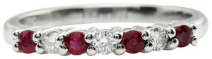 Other .50CTW Natural Red Ruby and DIAMOND in 14K Solid White Gold Women Ring