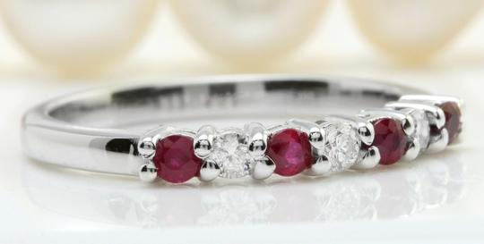 Other .50CTW Natural Red Ruby and DIAMOND in 14K Solid White Gold Women Ring Image 1