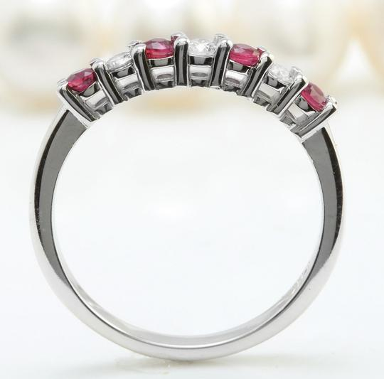 Other .50CTW Natural Red Ruby and DIAMOND in 14K Solid White Gold Women Ring Image 2