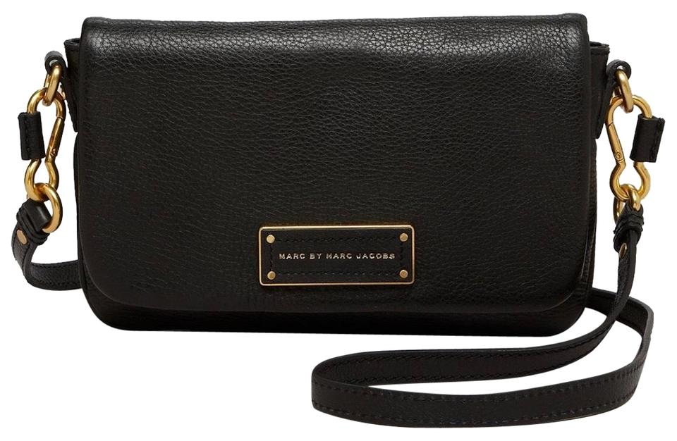 829ca4741b81 Marc by Marc Jacobs Too Hot To Handle Flap Black Leather Cross Body Bag