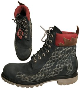 Timberland Leather Special Edition Earthkeeper Vibram Men's Blue Multi Boots