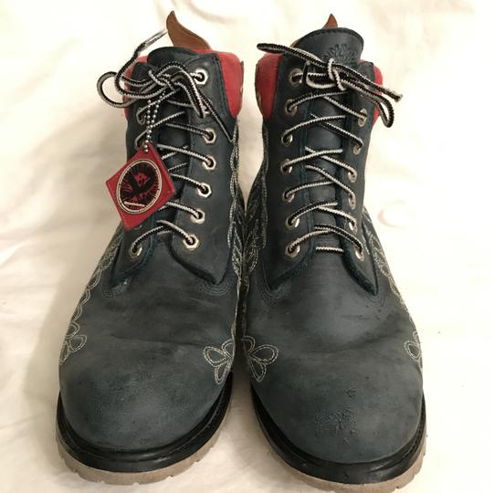 Timberland Leather Special Edition Earthkeeper Vibram Men's Blue Multi Boots Image 2
