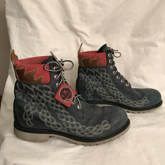 Timberland Leather Special Edition Earthkeeper Vibram Men's Blue Multi Boots Image 3