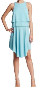 Tibi Layered Crepe Sleeveless Asymmetrical Dress