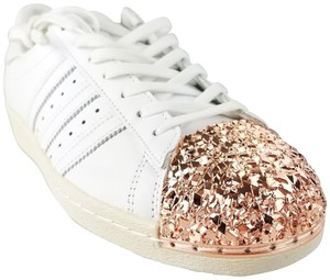 adidas White Rose Gold 3d Metal Toe Cap Superstar Sneakers Size US 9  Regular (M 16be6a5ca99