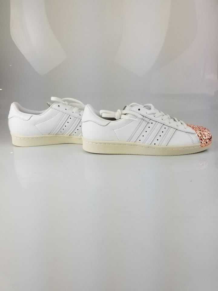 adidas White Rose Gold 3d Metal Toe Cap Superstar Sneakers Size US 9 ... f9fe7d5ef48a