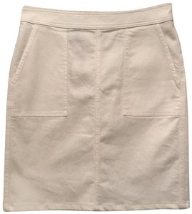 Lands' End Cotton Lined New With Tags Skirt White