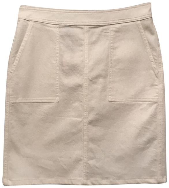 Item - White New Stain Repellent Cotton/Blend Comfort Stretch Fabric Skirt Size 6 (S, 28)