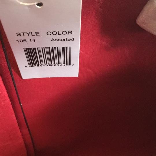 Lord & Taylor Tote in Red and Black Image 4