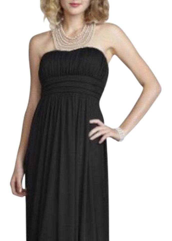Davids Bridal Black 8420y039 Long Formal Dress Size 6 S Tradesy