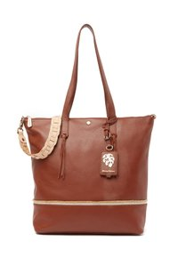 Tommy Bahama Leather Tote in SADDLE