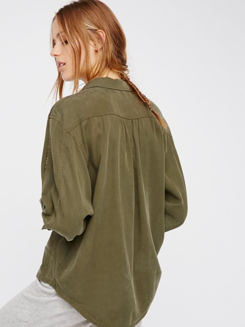 Free People Button Down Shirt Moss Image 1
