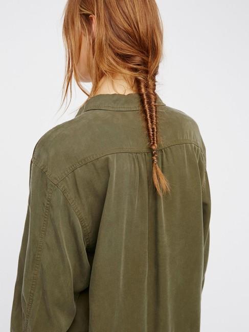 Free People Button Down Shirt Moss Image 2
