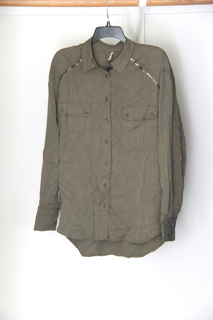Free People Button Down Shirt Moss Image 4